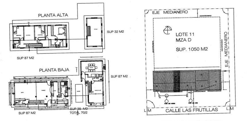 C78 EXCELENTE CASA SOBRE CALLE LAS FRUTILLAS – BARRIO EL ONCE – VILLA LA ANGOSTURA